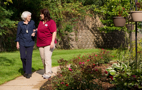 The Villages offer senior residents a beautiful garden-like environment.