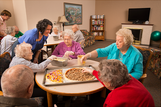There are plenty of activities going on at Village Ridge assisted living center.